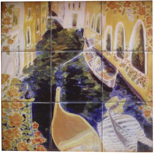 License of Nicole's Fine Art for large tile wall murals of custom sizes