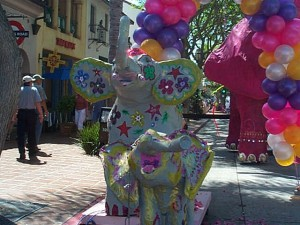 Elephant Floats for Santa Barbara Summer Solstyce Parade